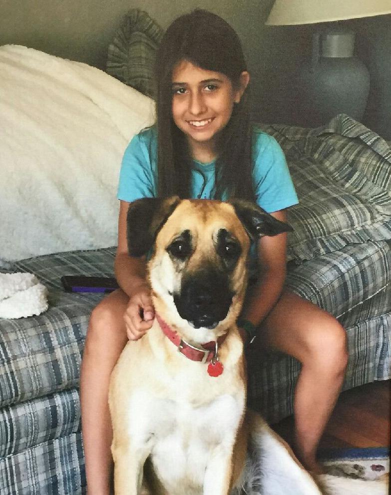 alexa with rescue dog